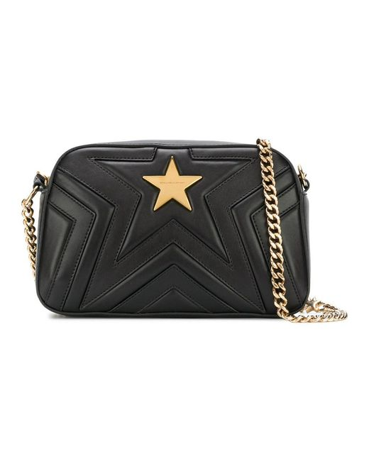 Stella McCartney - Women's Black Polyester Shoulder Bag - Lyst