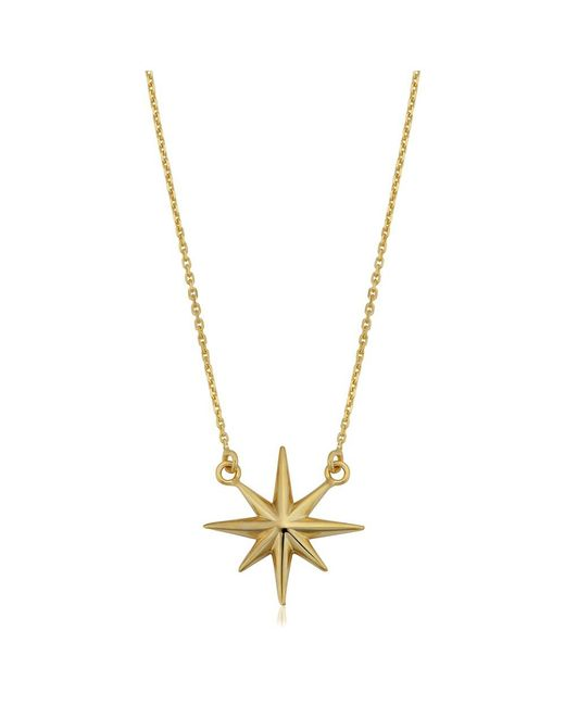 JewelryAffairs - 10k Yellow Gold North Star Pendant Necklace, 18 - Lyst