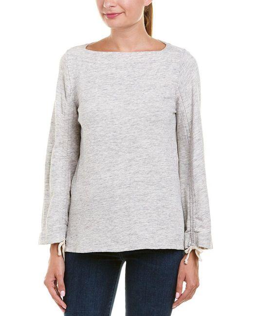 Ella Moss - Gray Wide Sleeve Sweatshirt - Lyst