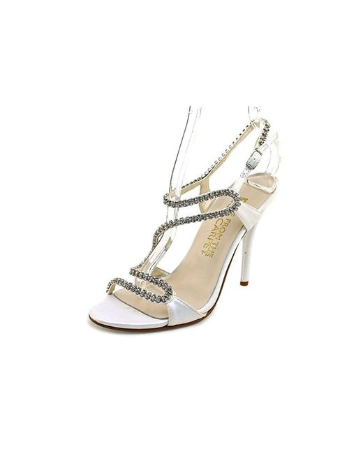 6ca9e8eafc2 E! Live From The Red Carpet - White Wallis Open Toe Canvas Sandals - Lyst