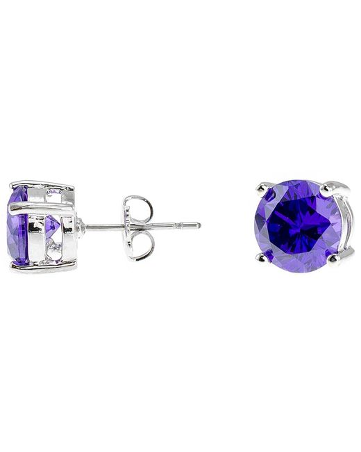 CZ by Kenneth Jay Lane - Blue 4cttw Round Cz Ears - Lyst