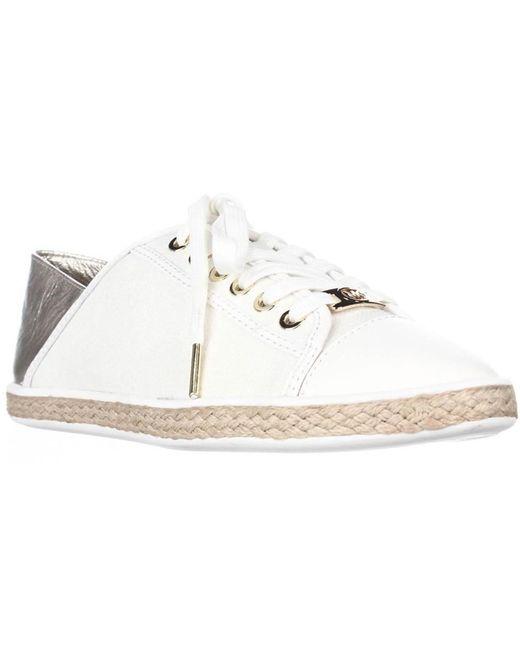 Michael Kors - Metallic Michael Kristy Slide Heel Cap Espadrille Sneakers - Pale Gold - Lyst