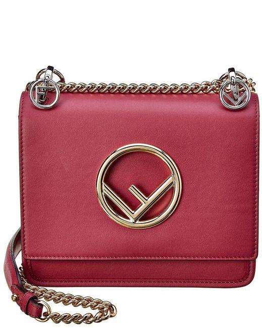 8629d7c7f316 Fendi - Multicolor Small Kan I F Logo Leather Crossbody - Lyst ...