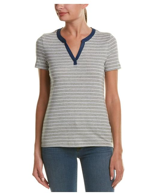 Three Dots - Gray Esther Henley T-shirt - Lyst