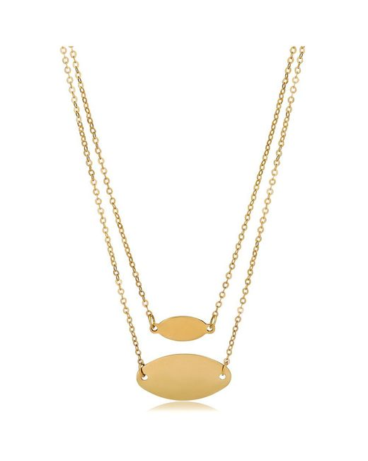 JewelryAffairs - 14k Yellow Gold Graduated Oval Disc Layered Necklace, 18 - Lyst