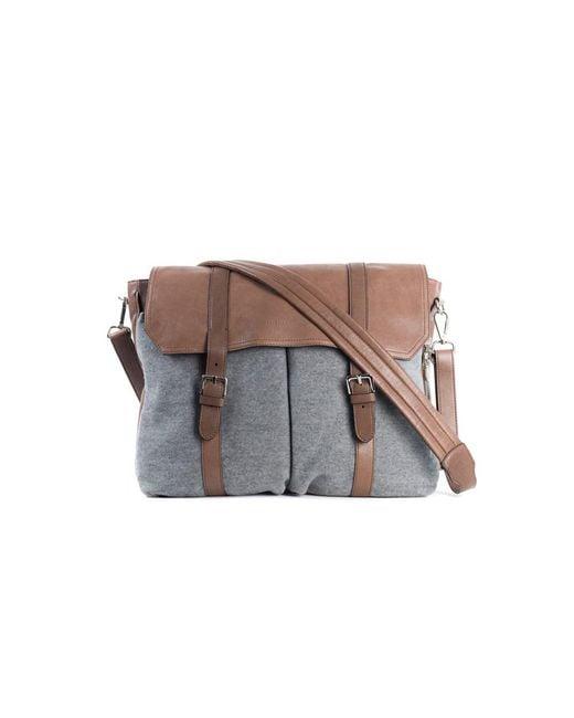 Brunello Cucinelli - Gray Grey Brown Travel Shoulder Leather Messenger Bag for Men - Lyst
