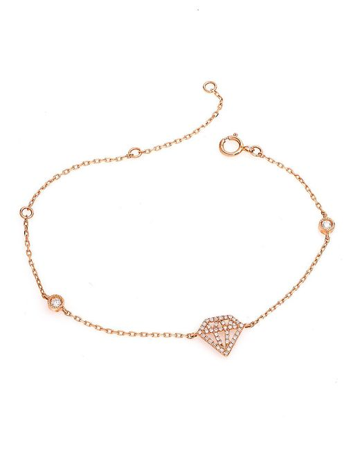CR By Casa Reale - Metallic 14 K White Diamond Cutout Diamond Chain Bracelet - Lyst