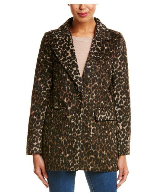 T Tahari - Multicolor Kendall Wool-blend Coat - Lyst