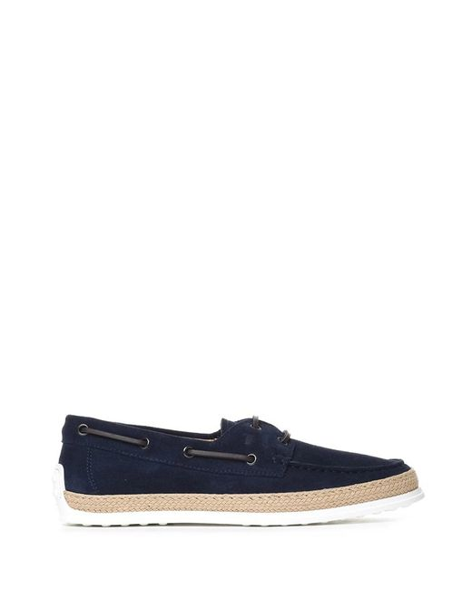 Tod's | Men's Xxm0tv05300re0u820 Blue Suede Loafers for Men | Lyst