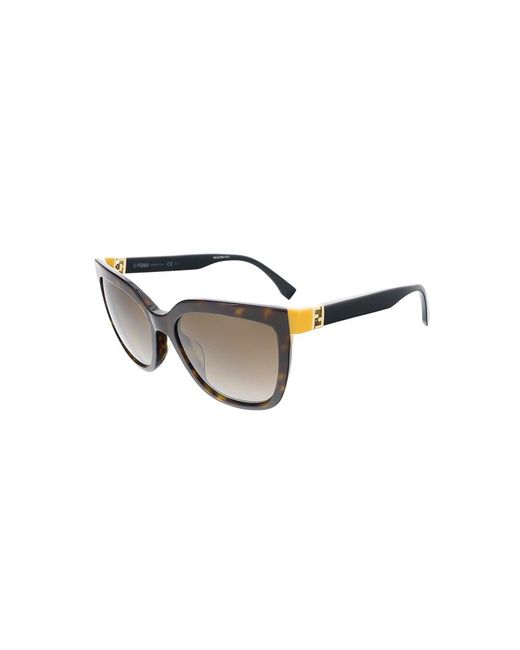 7d793d3d4a39b Lyst - Fendi Ff0128s 0trd Dark Havana black Square Sunglasses in ...