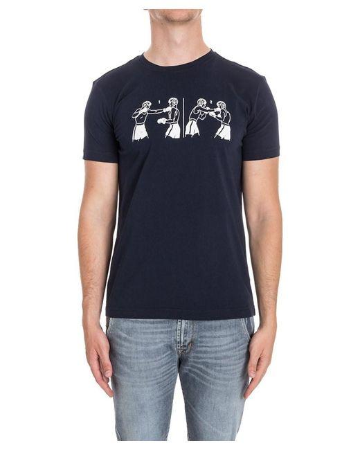 Aspesi - Men's Blue Cotton T-shirt for Men - Lyst