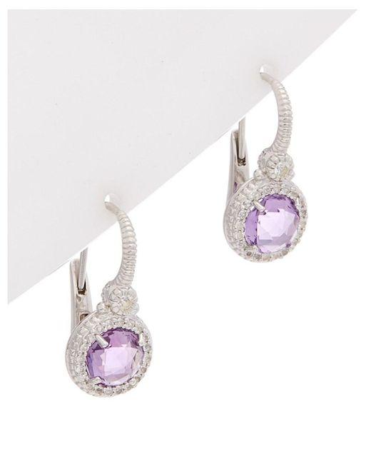 Judith Ripka - Metallic La Petite Silver 3.04 Ct. Tw. Gemstone Drop Earrings - Lyst