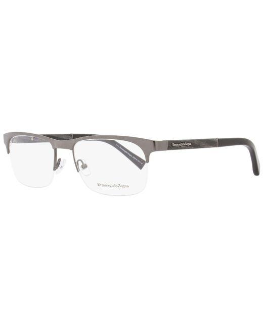 Ermenegildo Zegna - Multicolor Semi-rimless Eyeglasses Ez5014 008 Size: 55mm Gunmetal/black 5014 for Men - Lyst
