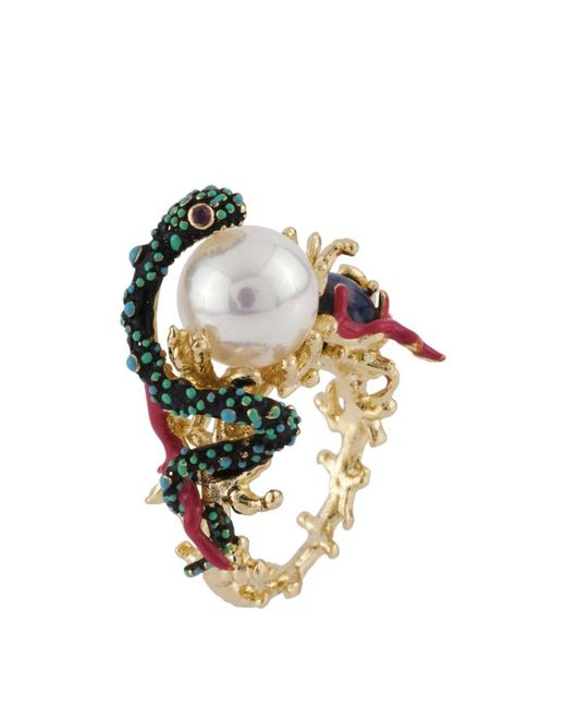 Les Nereides - Multicolor Atlantide Sea Snake Protecting Its Pearl Ring - Lyst