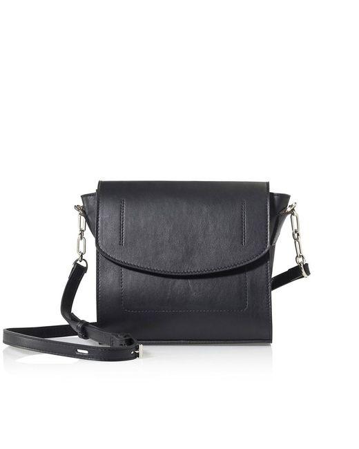 Joanna Maxham - Runthrough Cross Body Bag In Black (nkl) - Lyst