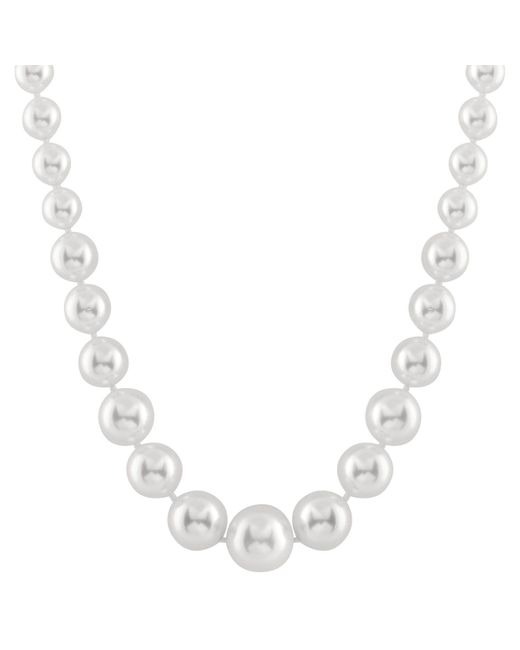 Splendid - 6-12mm White Graduated Shell Pearl Necklace - Lyst