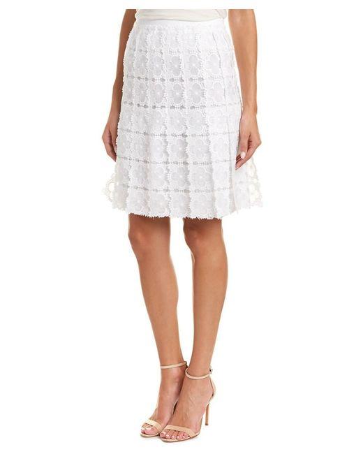 Elie Tahari - White A-line Skirt - Lyst