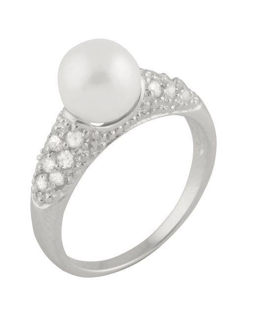 Splendid - Metallic Cluster Cz Fancy Pearl Ring - Lyst