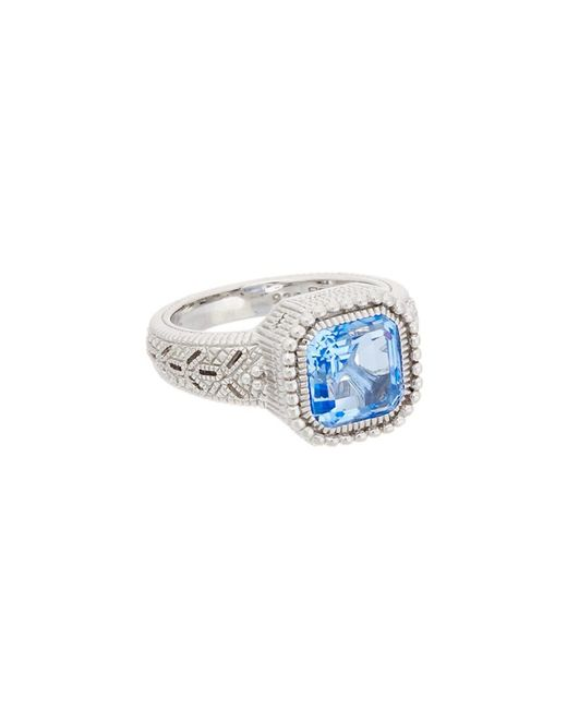 Judith Ripka | Metallic Estate Silver 3.85 Ct. Tw. Blue Quartz Ring | Lyst