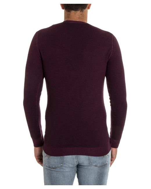 Paolo pecora Men's Burgundy Wool Sweater in Red for Men | Lyst