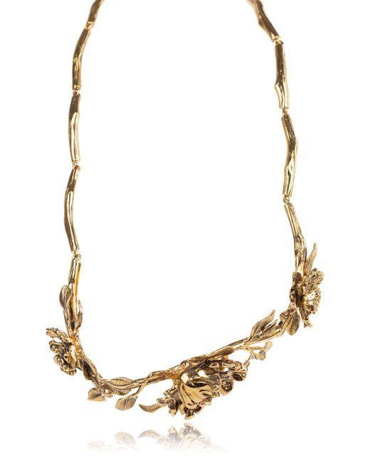 Roberto Cavalli - Metallic Blossom Metal Gold Plated Belt - Lyst