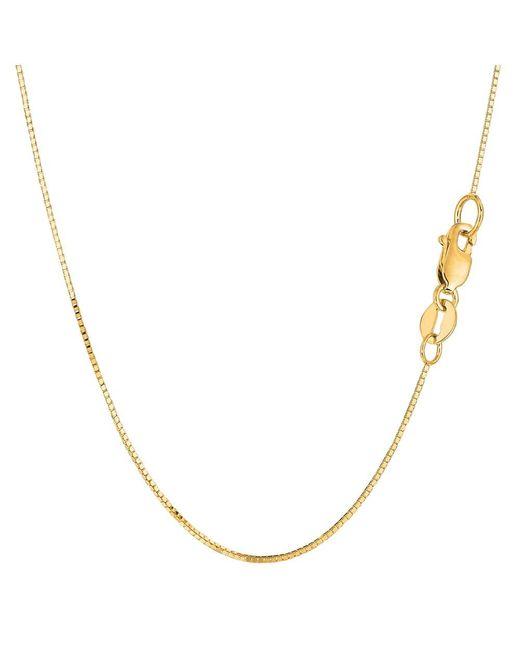 JewelryAffairs - 14k Yellow Gold Classic Mirror Box Chain Necklace, 0.7mm, 18 Inch - Lyst
