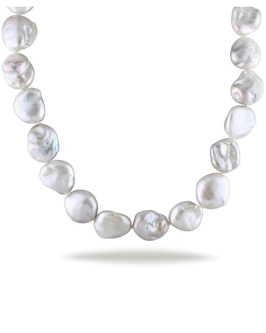 Catherine Malandrino - Metallic Freshwater Baroque Cultured Pearl Strand With Sterling Silver Clasp - Lyst