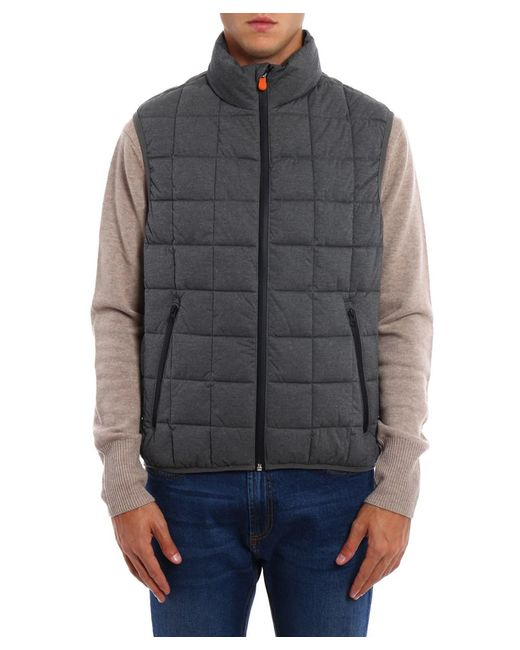 Save The Duck - Gray Men's Grey Polyester Vest for Men - Lyst