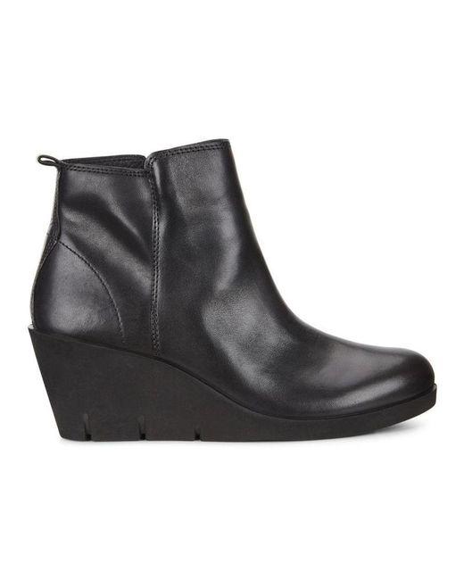 8c2c59fe6ea3 Ecco - Black Womens Bella Round Toe Ankle Fashion Boots - Lyst ...