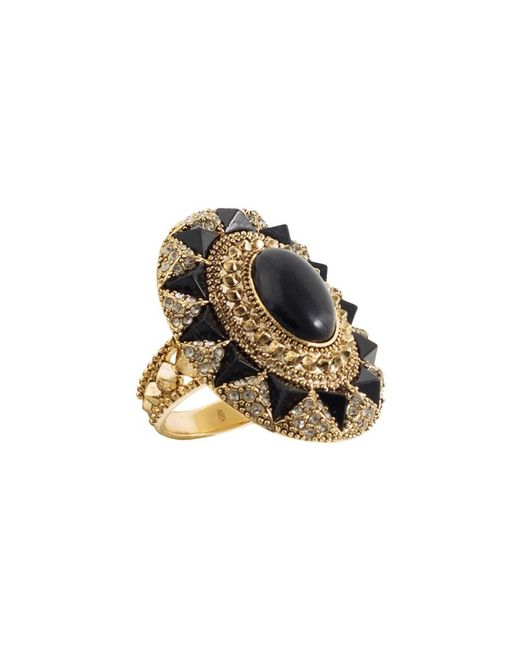 House of Harlow 1960 | Metallic 1960 14k Plated Crystal & Resin Cocktail Ring | Lyst