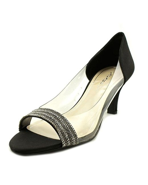 Caparros - Fancy Women Open-toe Canvas Black Heels - Lyst