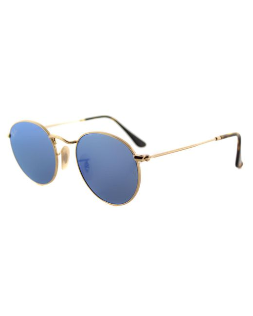 Ray-Ban - Multicolor Round Metal Rb 3447n 001/9o 47mm Gold Round Sunglasses - Lyst