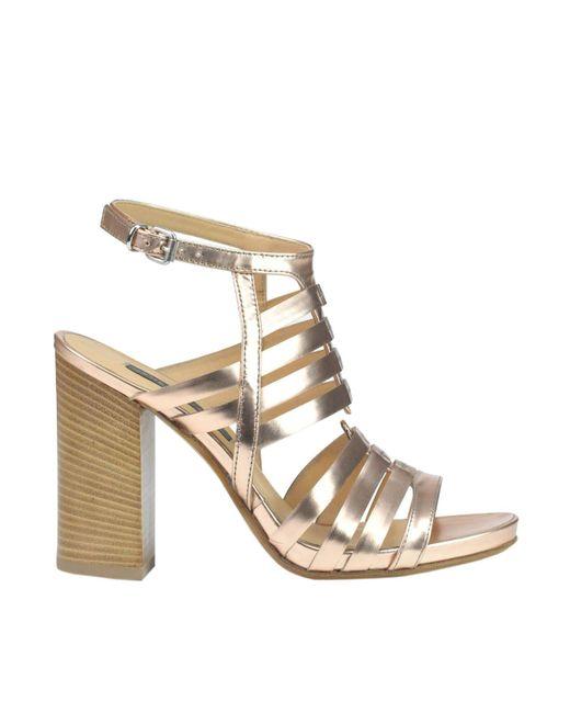 Janet & Janet - Metallic Janet& Women's Bronze Leather Sandals - Lyst