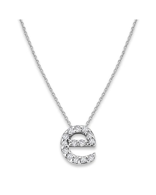 KC Designs - Metallic 14k Gold And Diamond Lowercase Initial Necklace, E - Lyst