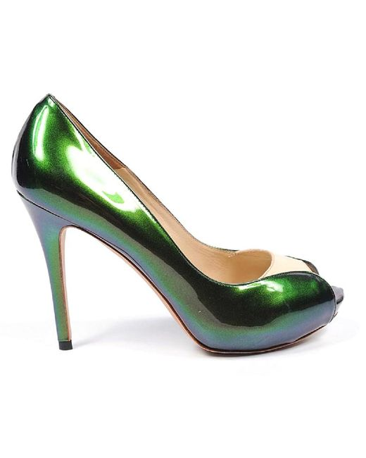 Alexander McQueen - Green Decollete Open Toe - Lyst