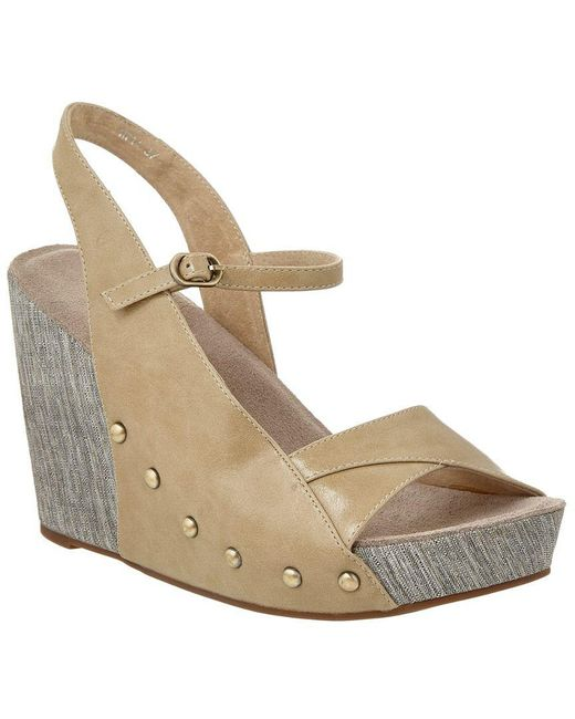 Antelope - Natural 714 Leather Wedge Sandal - Lyst