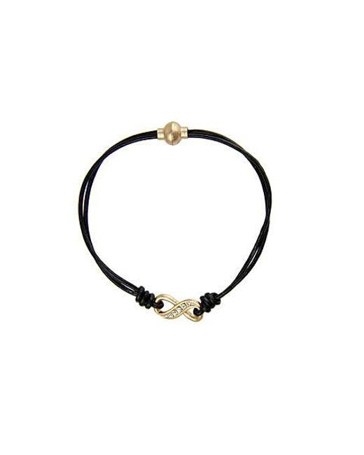 Saachi - Black Crystal Infinity Bracelet - Lyst