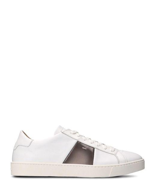 Santoni - Men's White Leather Sneakers for Men - Lyst