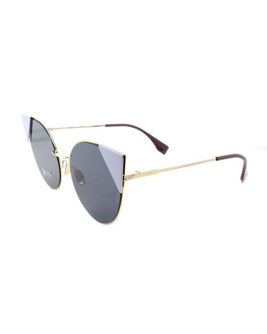 Fendi - Multicolor Lei Ff 0191 000 A9 Rose Gold Cat-eye Sunglasses - Lyst