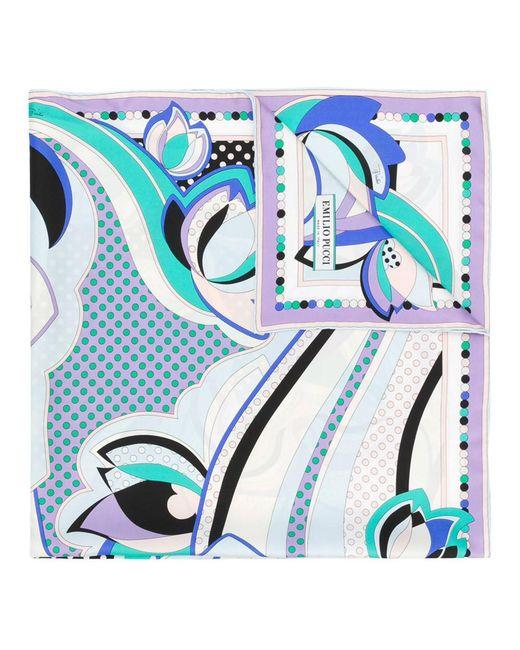 Emilio Pucci - Blue Women's Multicolor Silk Foulard - Lyst