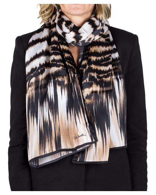 Roberto Cavalli - Brown Women's Animal Print Silk Scarf Large - Lyst