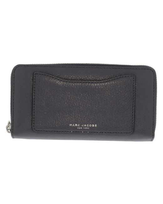 Marc Jacobs - Gray Women's Recruit Standard Continental Leather Wallet - Shadow - Lyst