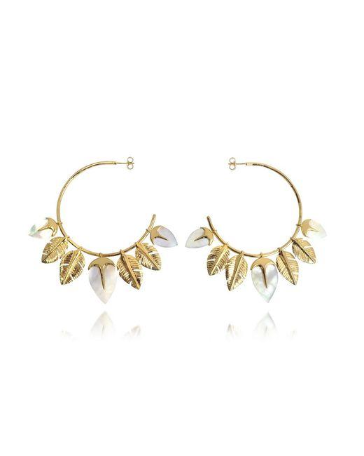 Aurelie Bidermann - Metallic Talitha Hoop Earrings - Lyst