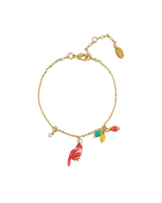 Les Nereides - Pink Lovely Canaries Coral Bird And Charms Bracelet - Lyst
