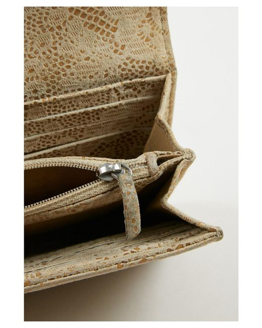 9d452720db89 ... Chanel - Natural 1 Beige Floral Lace Embossed Goatskin Leather Front  Flap 'cc' Wallet ...