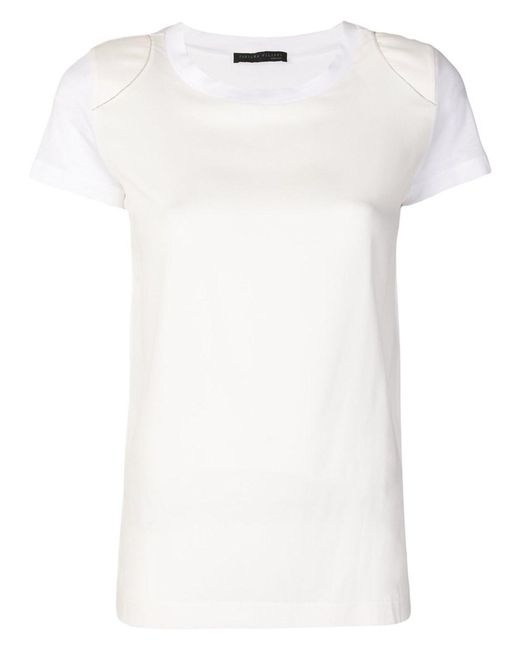 Fabiana Filippi - Women's White Cotton T-shirt - Lyst