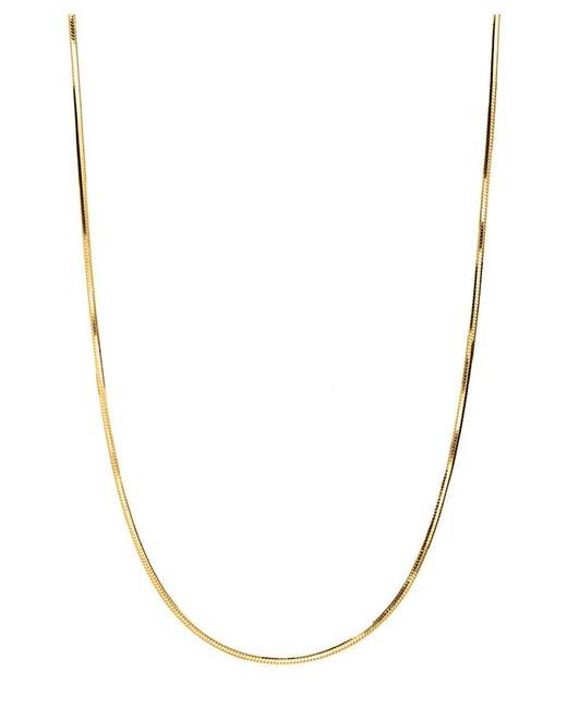 Barzel - Metallic 18k Gold Ptd Sterling Silver Diamond-cut Snake Necklace - Lyst