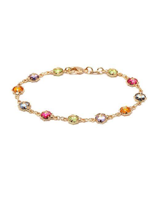 Peermont - Metallic Gold And Swarovski Elements Leopard Bracelet - Lyst