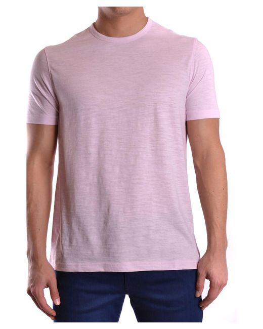 Michael Kors - Men's Cs65fug03m676 Pink Cotton T-shirt for Men - Lyst