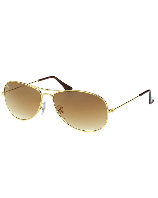 Ray-Ban - Metallic Cockpit Aviator Metal Sunglasses - Lyst